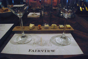 The Fairview cheese and wine master tasting.