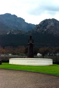 Statue at the entrance of La Motte in Franschhoek.